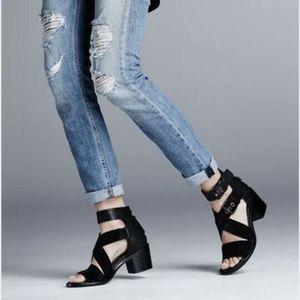 Rag & Bone Black Sandals Suede Leather 9, 39